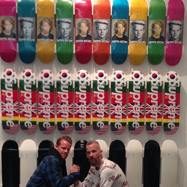 Fucking Awesome #skateboards @ #Supreme Store Jason Dill & AVE