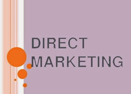 Direct marketing is the type of marketing in which marketers and business get a direct contact with their customers in order to promote their product. Direct marketing can be made from email, online ads and telephone. To increase the sale of your product