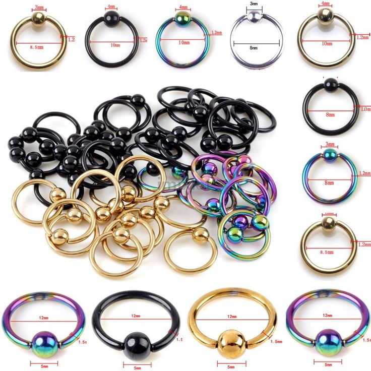 10Pcs Captive Bead Ring Ball Hoop Eyebrow Nipple Nose Lip Earrings Body Piercing Wholesale Jewelry Lots