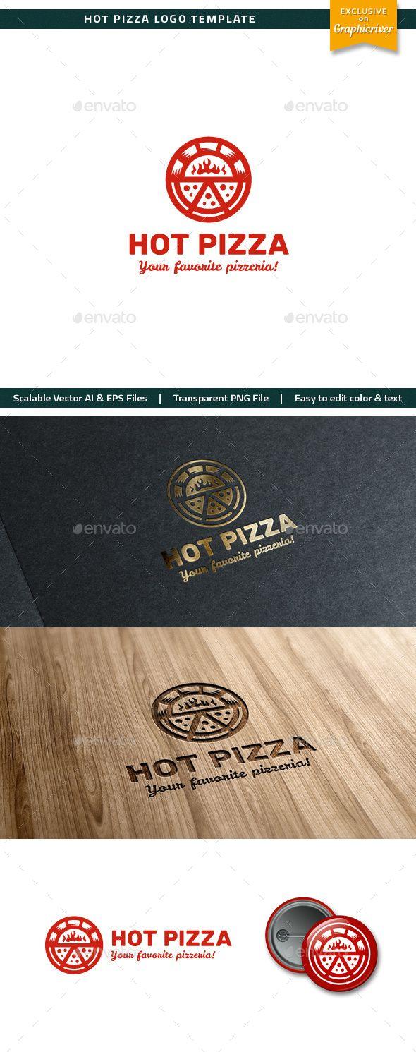 Hot Pizza Logo