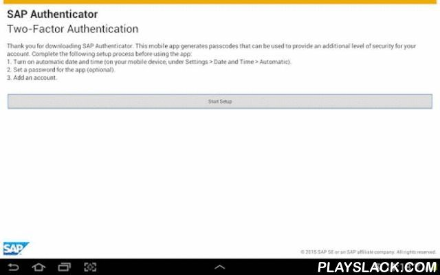 SAP Authenticator  Android App - playslack.com , With the SAP Authenticator mobile app for Android, you can protect your sensitive systems beyond your regular authentication mechanisms. This app is geared towards systems protected by the SAP Single Sign-On application and provides enhanced security by generating one-time passwords that can be used as a second factor or alternative password for login. Key features of SAP Authenticator for Android• Generate time-based, one-time passwords…