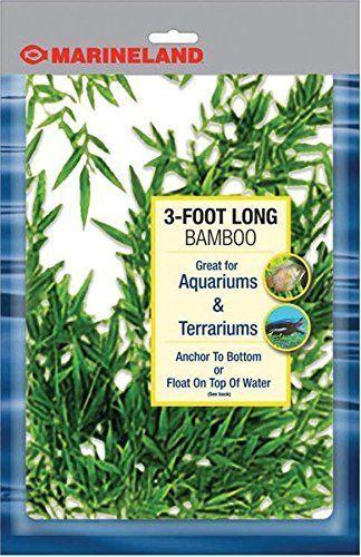 Plastic Fish Tank Bamboo Fake Aquarium Terrariums Grass Plants Ornament Decor