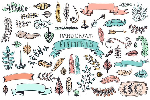 own // 56 Doodle Decoration Elements - Illustrations