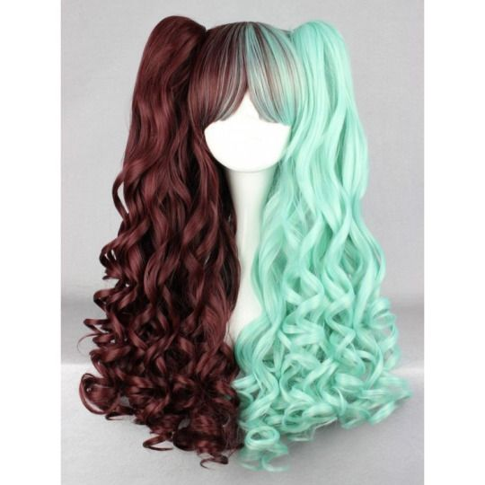 Chocolate and Mint Ponytail Wig $40.80 http://thingsfromjapan.net/chocolate-and-mint-ponytail-wig/ #cosplay wig #Japanese cosplay #kawaii wig