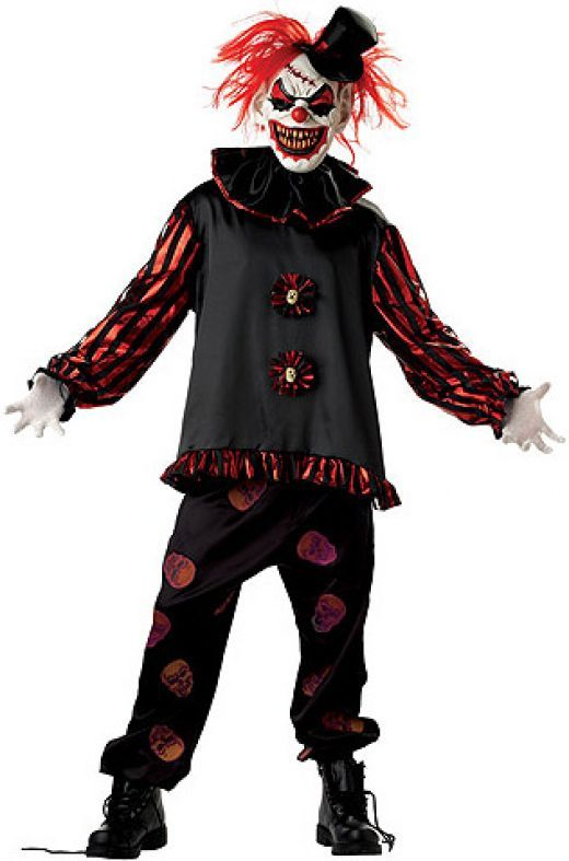 Evil clown costume  http://barnaclebill.hubpages.com/hub/ClownCostumes