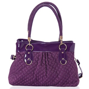 Add some posh appeal to your accessories with this delightful byzantium purple tote bag studded with accent detailing. Shop Now: http://www.tajonline.com/gifts-to-india/gifts-AR5457.html?aff=pintrest2013/