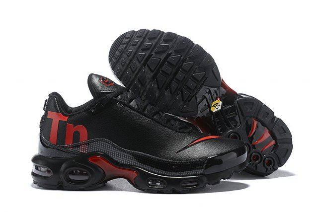02d8b7afd1cf Nike Mercurial Air Max Plus Tn Black Red Men s Running Shoes in 2019 ...