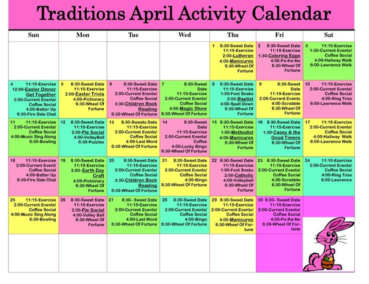 Calendar Ideas For Elderly : Best other activity calendars images on pinterest