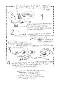 Yvette Van Boven recipe illustrations.