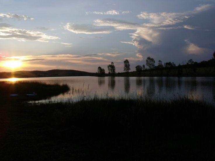 Sunset at Kwaggashoekdam.