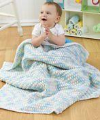 Free Crochet Baby Bumps Blanket Pattern.