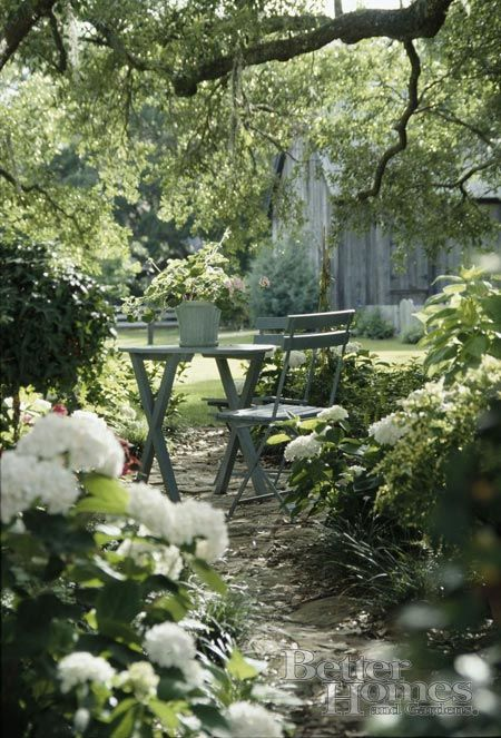 White dappled shade garden...serenity: Shady Garden, Secret Garden, Shade Garden, Gardens, White Garden, Garden, Dappled Shade