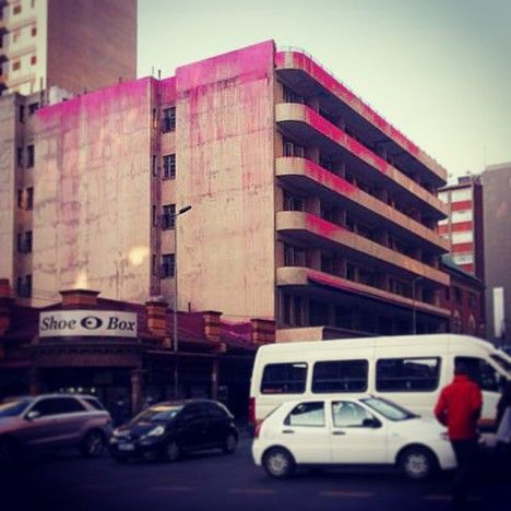 Beware of Colour: Activists Highlight Decay with Pink Paint, in Johannesburg  http://weburbanist.com/2015/01/10/beware-of-colour-activists-highlight-decay-with-pink-paint/