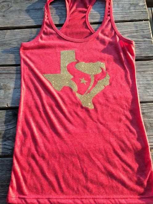 I WANT THIS SO BAD! Houston Texans and New Orleans Saint tanks by StatelineDesigns, $24.00