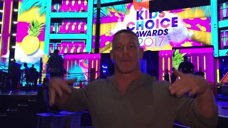 It seems a stage is being erected... Slimiest.  Surprisiest.  Nickelodeon #KCA is TOMORROW NIGHT!