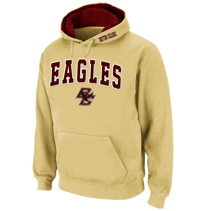Boston College Eagles Stadium Athletic Arch & Logo Pullover Hoodie - Gold