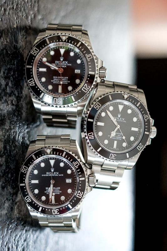 Rolex DEEPSEA, Submariner and Sea Dweller. Classic tool watches.