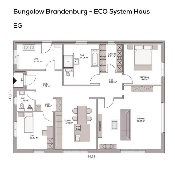 Hausbaufirmen In Brandenburg 12 best grundriss bungalow images on