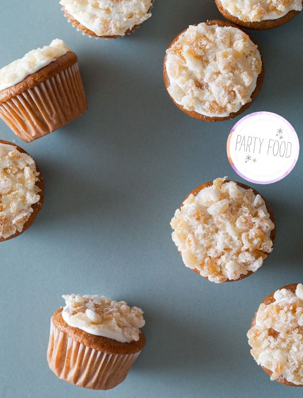 Cinnamon spiced mini cupcakes