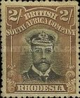 British South Africa Company, 1.9.1913, King George V., No.136, 2Sh brown/black. Stamped 13,17 USD. Unused 16,46 USD.