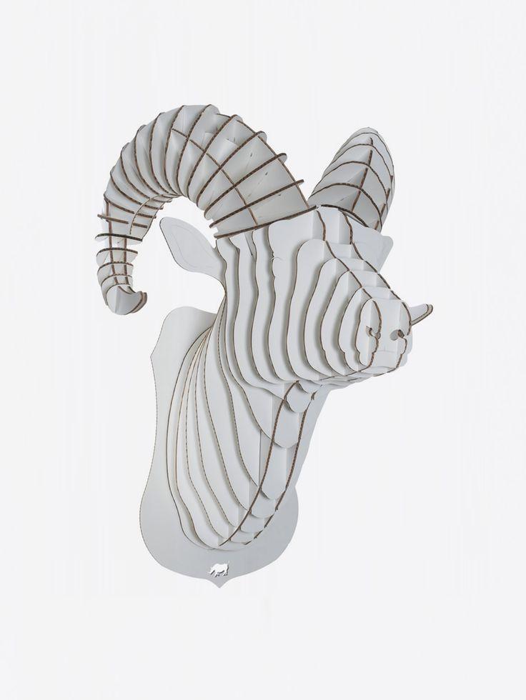CARDBOARD SAFARI , Rocky Ram Bust Beyaz Karton Koç Kafası Giant #shopigo#shopigono17#availableonsite#decoration#design#style#fashion#lifestyle