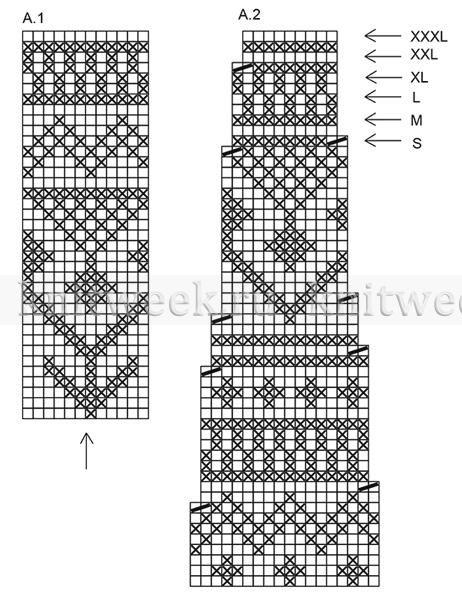 Джемпер черный лед - Схема 1