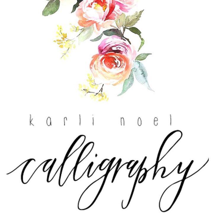 Custom calligraphy ig karli noel