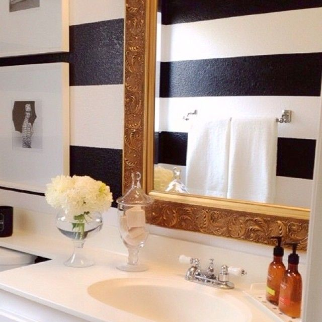 best 25 gold striped walls ideas on pinterest gold room. Black Bedroom Furniture Sets. Home Design Ideas