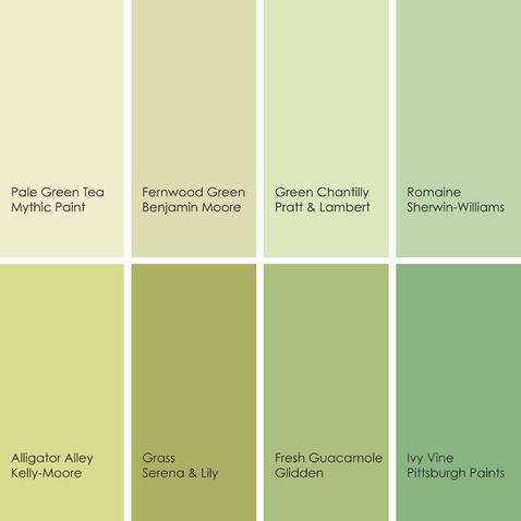 Shades of Green | Paint colors 2 | Pinterest