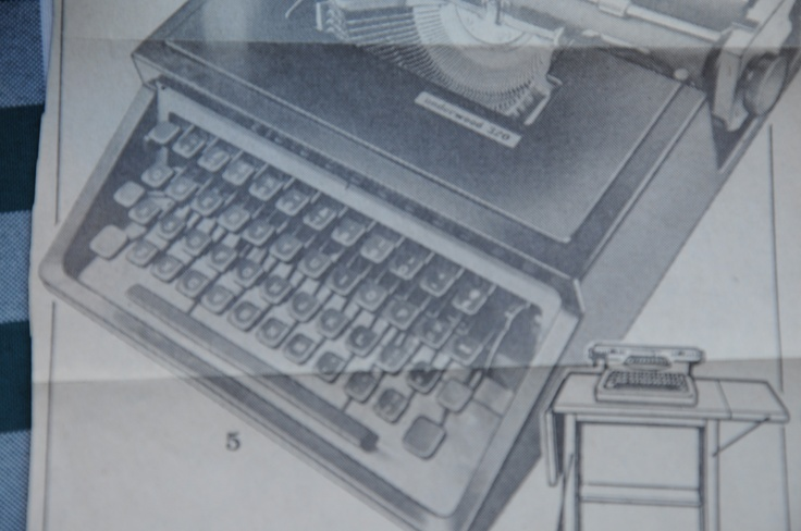 This is the original advertisement that the first owner clipped out prior to purchasing this O-U 320  typewriter.  The original price in 1969 was 89.95 .