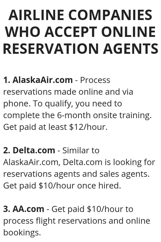 work from home airline reservations airline companies who accept online reservation agents 4472
