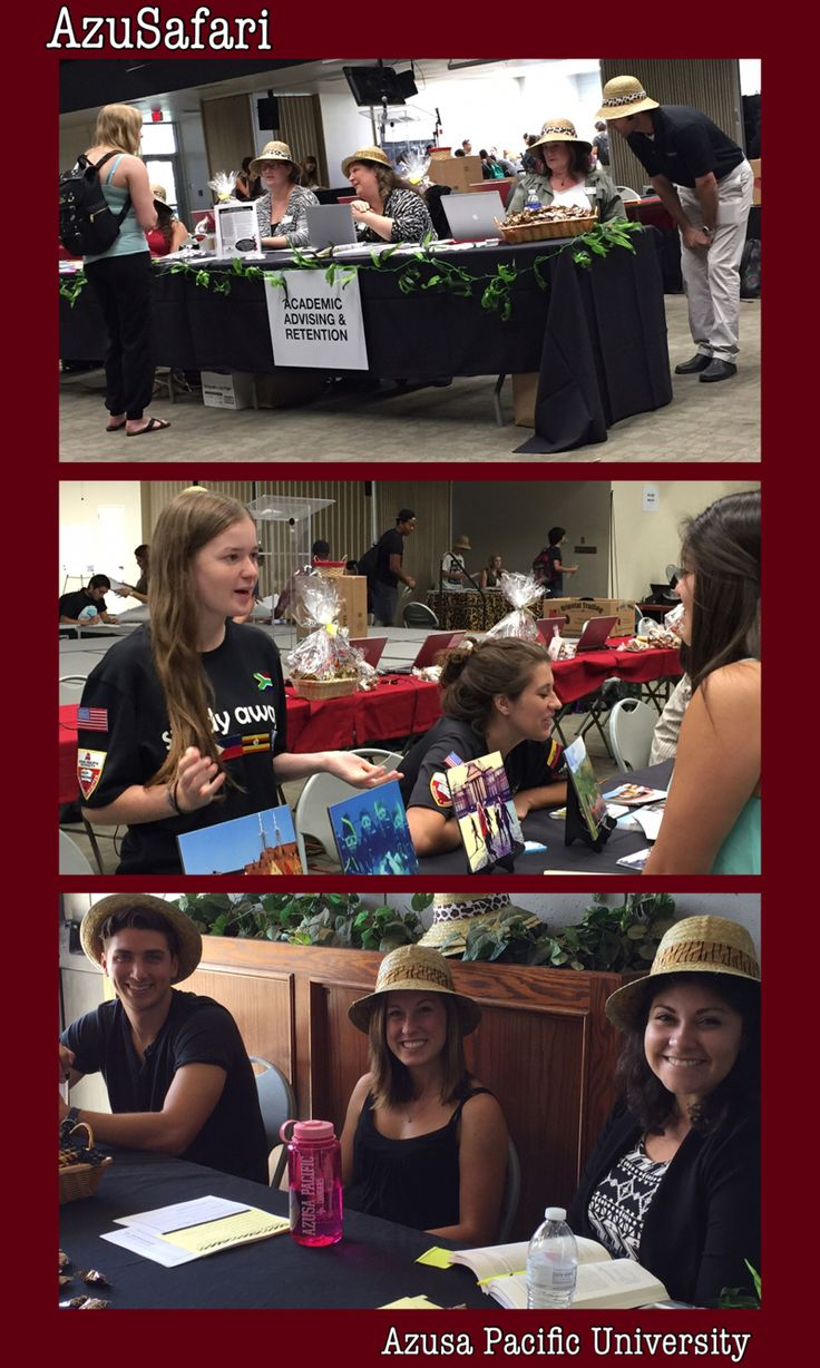 APEX Mentors greet students at AzuSafari majors fair at Azusa Pacific University. The event, organized by Academic Advising and Retention, gives students a chance to explore the learning opportunities at APU - including Study Abroad.