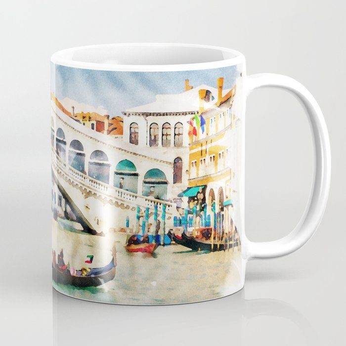 Venice Italy Beautiful Earth Watercolor Art Coffee Mug