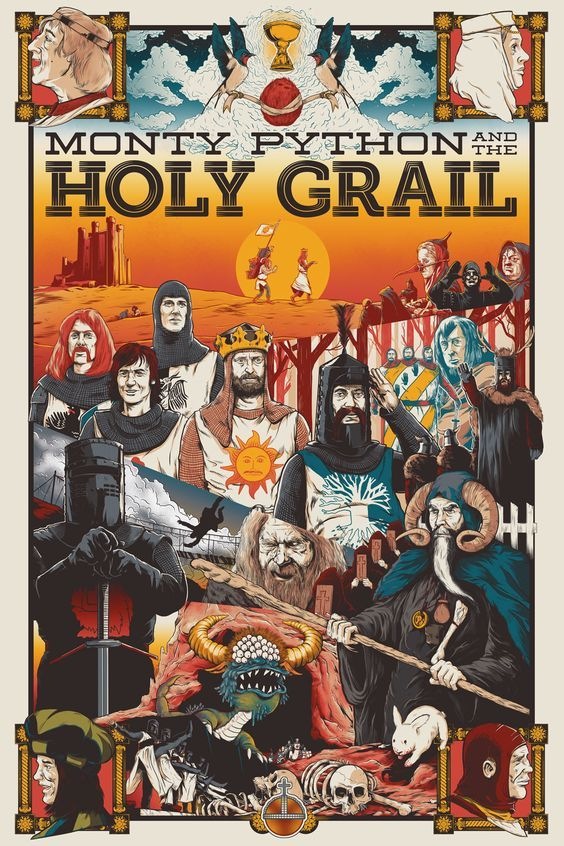 Monty Python and the Holy Grail (1975) HD POSTER #holy_grail_monty_python | #monty_python | #monty_python_filme | #monty_python_witch | #holy_grail_monty_python