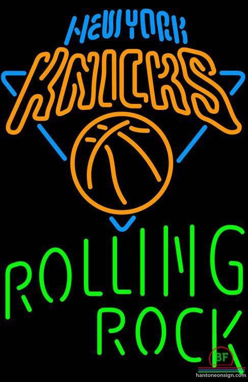 Rolling Rock New York Knicks Neon Sign NBA Teams Neon Light
