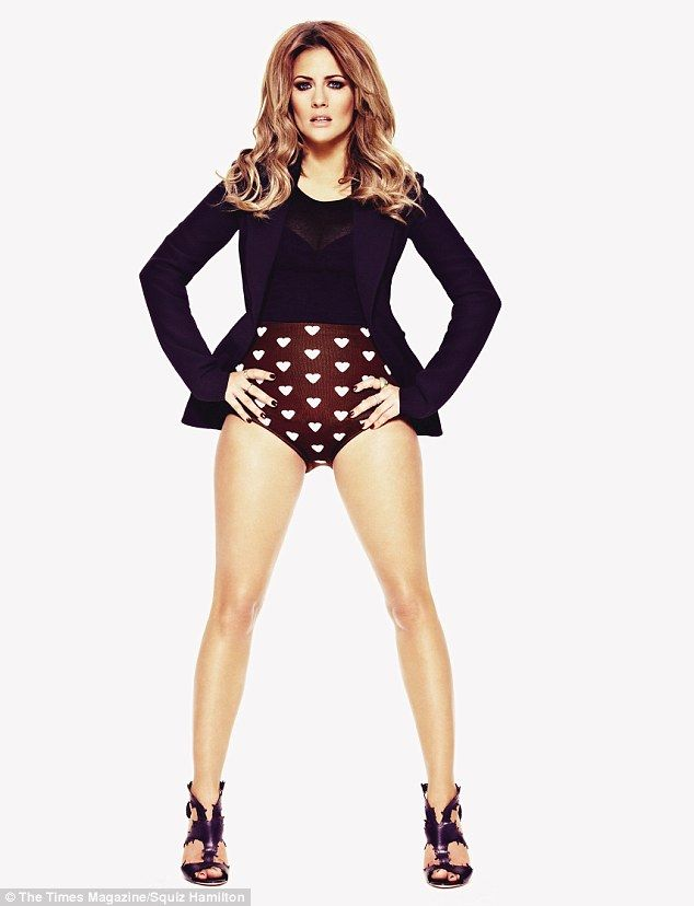 Caroline Flack, the 33 year old television presenter who had a short lived fling with One Direction's Harry Styles in 2012, posing in a recent photo shoot for The Times Magazine. via dailymail.co.uk
