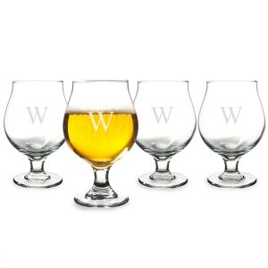 Personalized 16 oz. Belgian Beer Glasses (Set of 4) | Print Canada Store