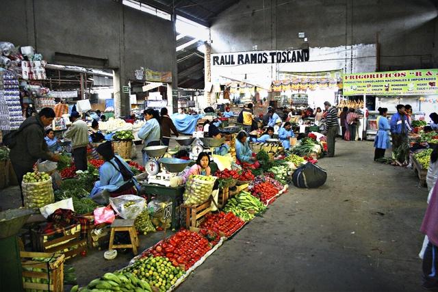 Market in Huancayo Peru