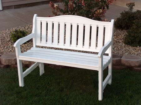 White Garden Bench, Wooden bench for sale