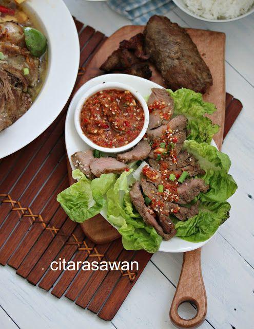 Daging Panggang Harimau Menangis Resepi Terbaik Daging Panggang Resep Makanan Makanan