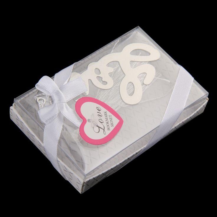 Bookmark favor!                R1B1 LOVE Shaped Bookmark Tassel Wedding Favors Bridal Shower Bridesmaid Gifts