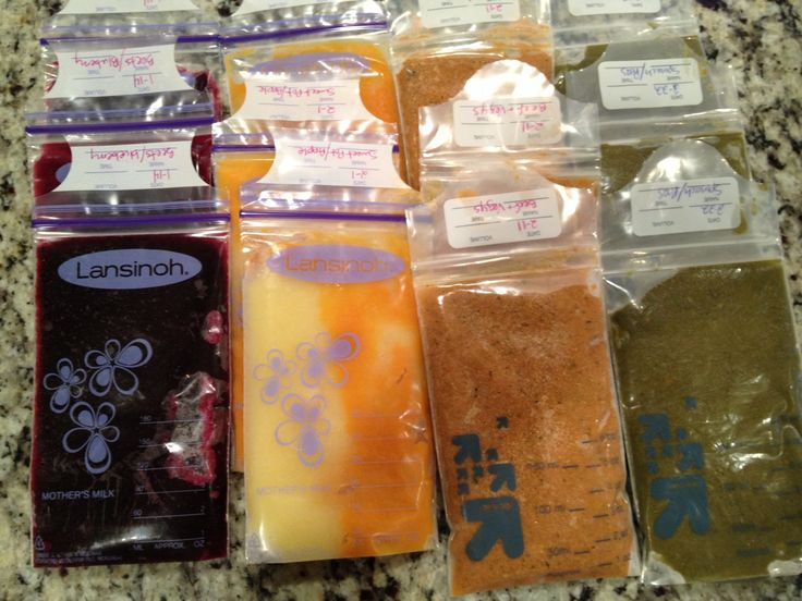Cheap homemade baby food storage, breast milk freezer bags, thaws in minutes in hot water.