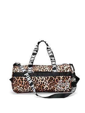 VS PINK Leopard Print Gym Duffle