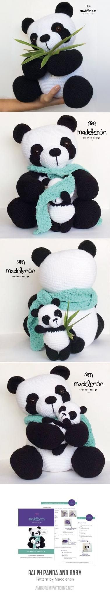 Ralph Panda and Baby amigurumi pattern by Madelenon