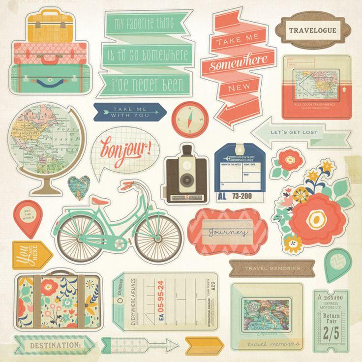 Картинки на тему путешествия для скрапбукинга, поздравлениями
