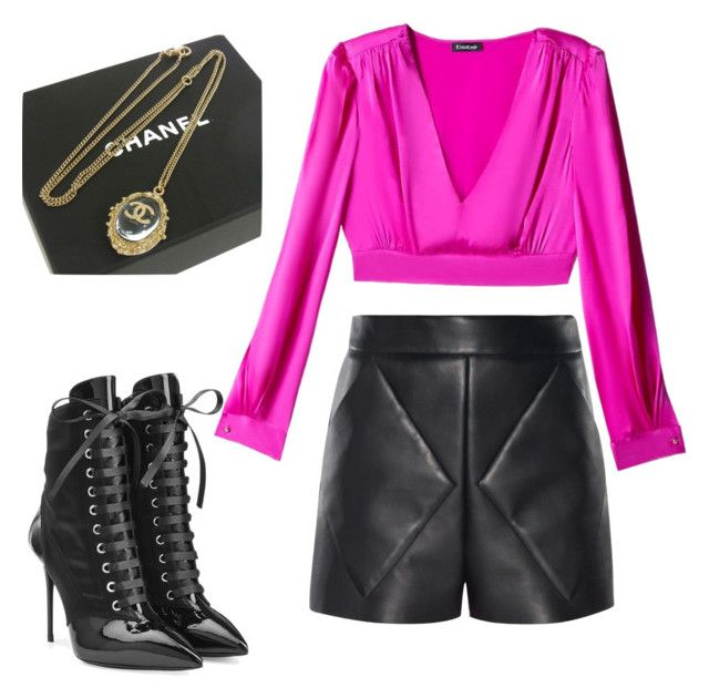 """""""Night Out"""" by doubleblonded on Polyvore featuring Giuseppe Zanotti, Bebe, Balenciaga and Chanel"""