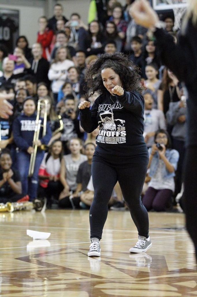 A group of moms gave their football player sons a big surprise at a school's recent pep rally when they broke into a dance performance, busting out moves like the Nae Nae and the Quan.  The football team at Steele High School in Cibolo, Texas, is headed into the playoffs, so the school held the pep rally