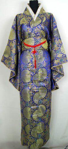 Joli Kimono Japonais Robe Longue Noble Bleu Taille Unique: Amazon.fr: Cuisine & Maison