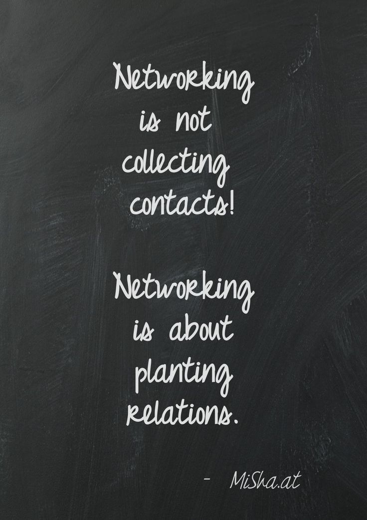 Networking Is Not Collecting Contacts Networking Is About