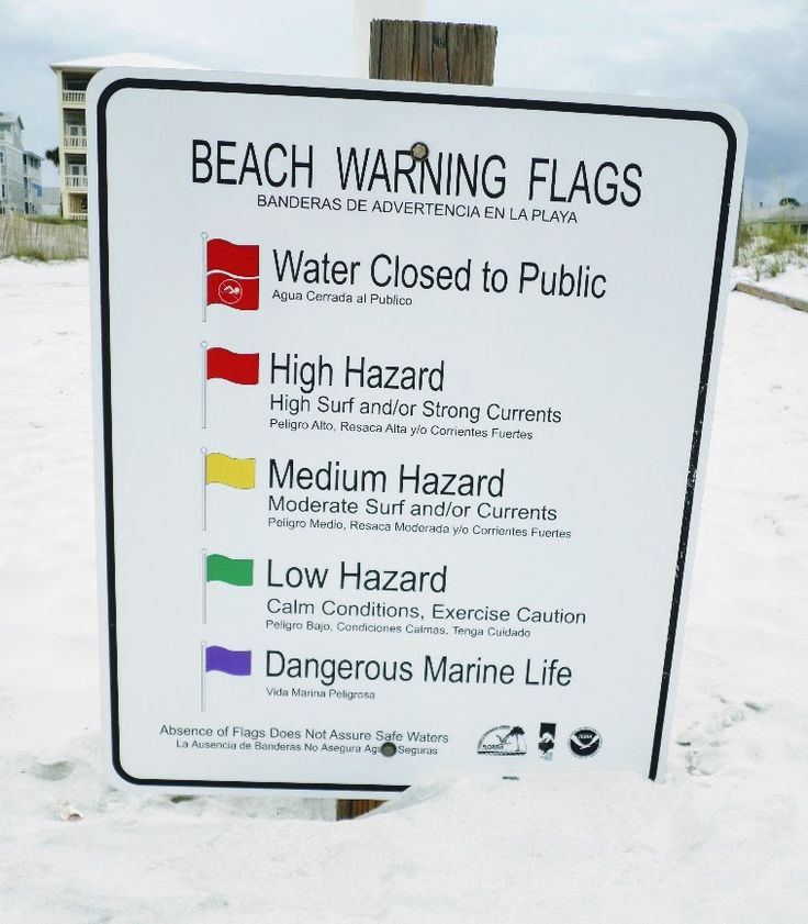 Keep your kids safe at the beach and know the meaning of the colored beach flags.